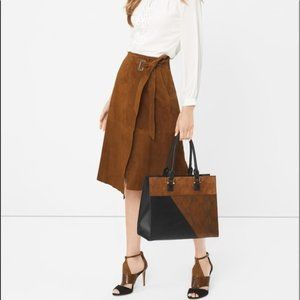 WHBM Suede Wrap, Lined Skirt!!